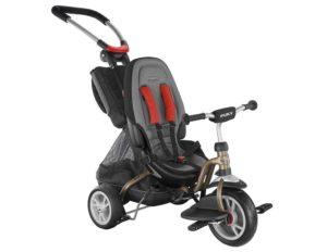 Sehr komfortables Kinderdreirad in den Farben Rot und Schwarz von Puky